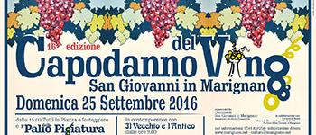 16esima edizione del Capodanno del Vino: 25 settembre a San Giovanni in Marignano